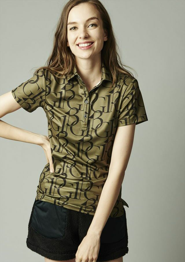 [lady's]s/s-polo 113g [khaki/black]
