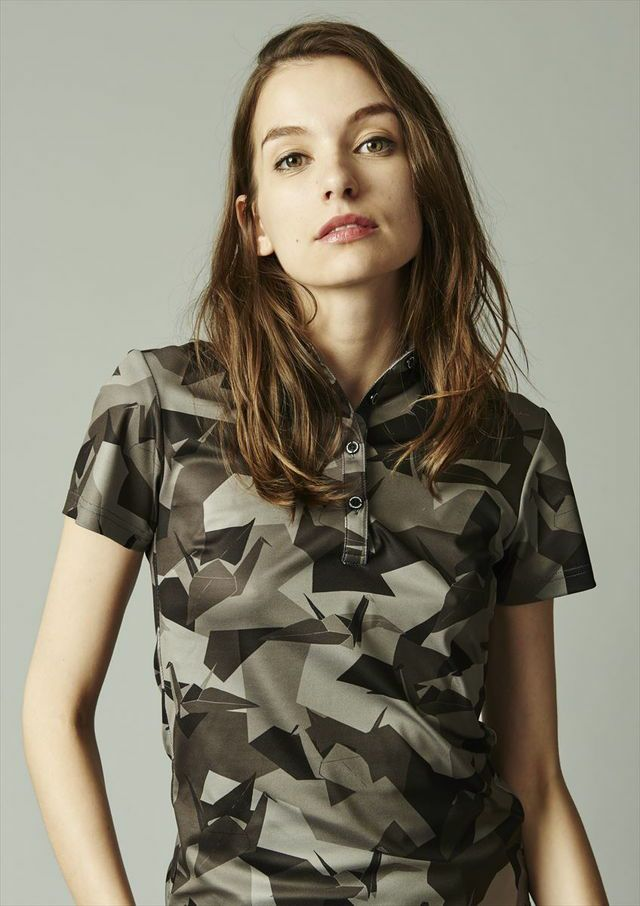 [lady's]s/s-polo camouflage [black]